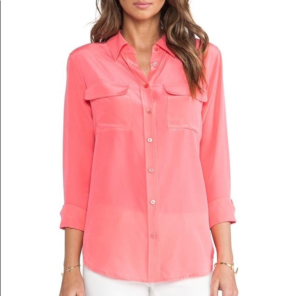 0aa83168954c37 Equipment Tops - Equipment Signature Blouse in XS in watermelon